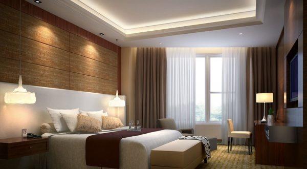 Натяжные потолки в спальне: 36 идей, фото в интерьере